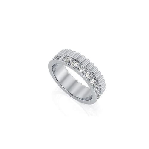Обручальные кольца из разных цветов золота с бриллиантами 1940387
