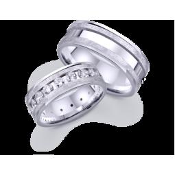 Парные обручальные кольца из белого золота 421949