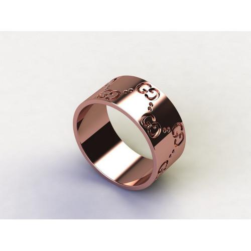 Золотое широкое кольцо в стиле Gucci 2154017