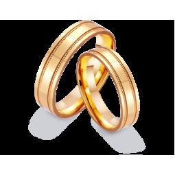 Золотые парные обручальные кольца 411206