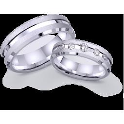Обручальные парные кольца из белого золота 421948