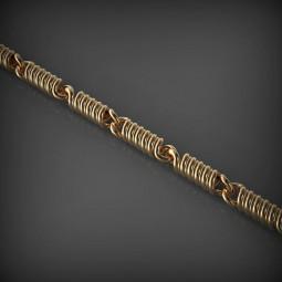 Золотая цепь со звеньями в форме проволоки 159161