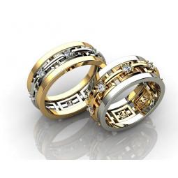 Авторские свадебные кольца с бриллиантами 467163