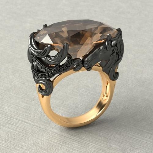 Женское золотое кольцо в стиле Carrera y Carrera