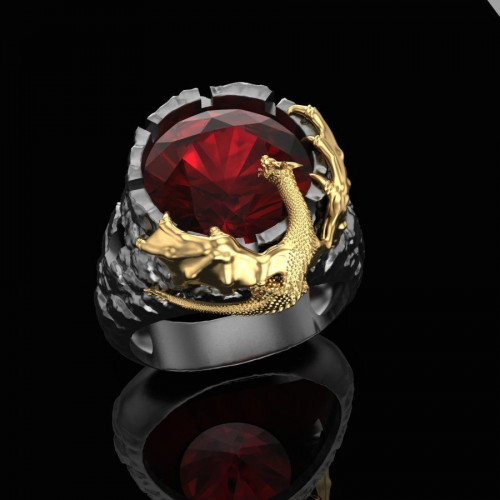 Золотой перстень Дракон 1027293