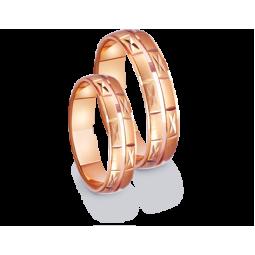 Золотые парные обручальные кольца 411181