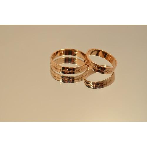 Золотые обручальные кольца Пульс 20035