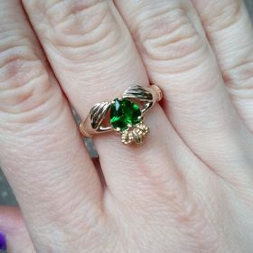 Авторское золотое кладдахское женское кольцо 630049