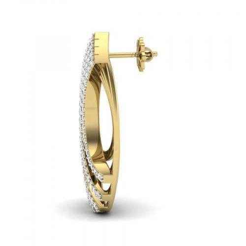 Эксклюзивные женские серьги с россыпью бриллиантов 2728520