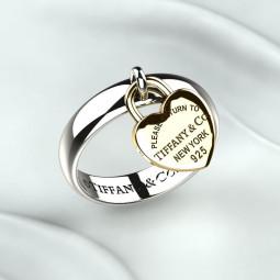 Женское золотое кольцо в стиле Tiffany 2288557