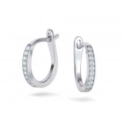 Небольшие сережки с дорожкой бриллиантов 2578502