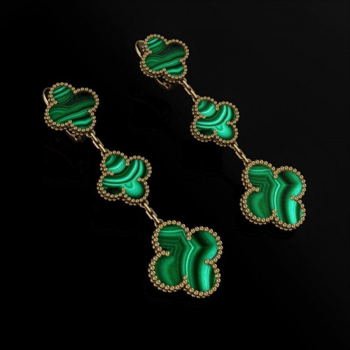 Эксклюзивные золотые серьги в стиле Van Cleef & Arpels 2526686