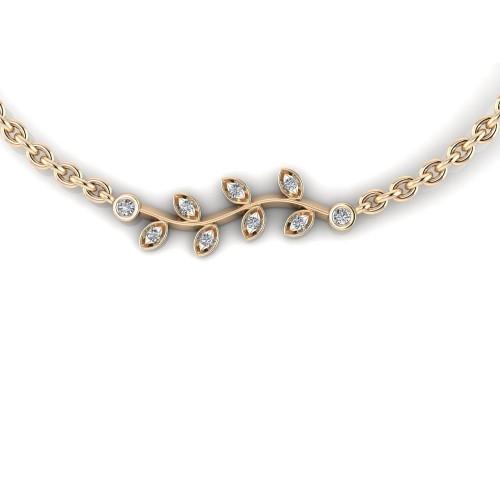 Золотой подвес с бриллиантами в стиле Tiffany & Co 2308781