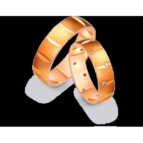 Золотые широкие обручальные кольца 411214
