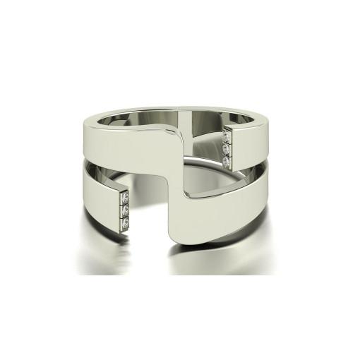 Дизайнерское кольцо необычной формы 2657559
