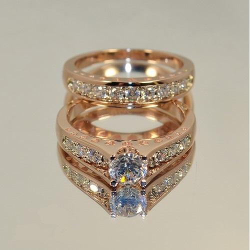 Авторское двойное женское кольцо с камнями AU6447060