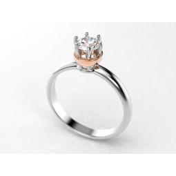 Золотое помолвочное кольцо с крупным камнем 980386