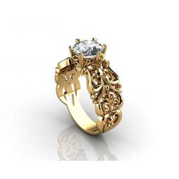 Авторское женское кольцо с крупным камнем 796576
