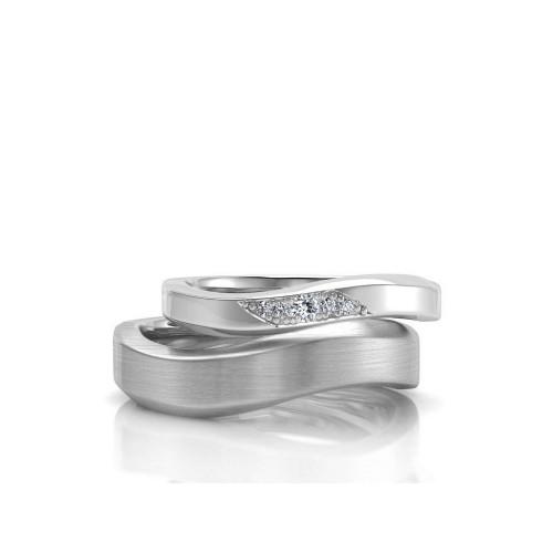 Обручальные кольца из белого золота с бриллиантами 102683