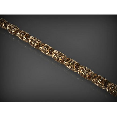 Золотая цепь с ажурными звеньями 157770