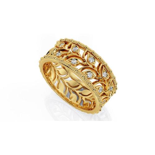 Золотые свадебные кольца веточки с камнями