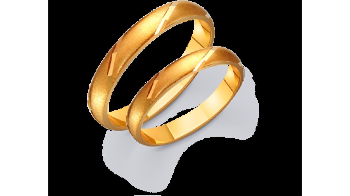 fddb73055e84 Классические полукруглые золотые обручальные кольца 431224 : купить ...