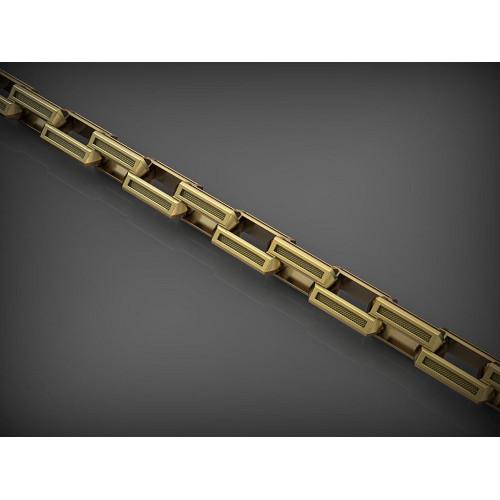 Золотая якорная цепь с крупными звеньями 2586679