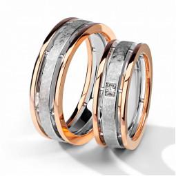 Авторские двухцветные свадебные кольца