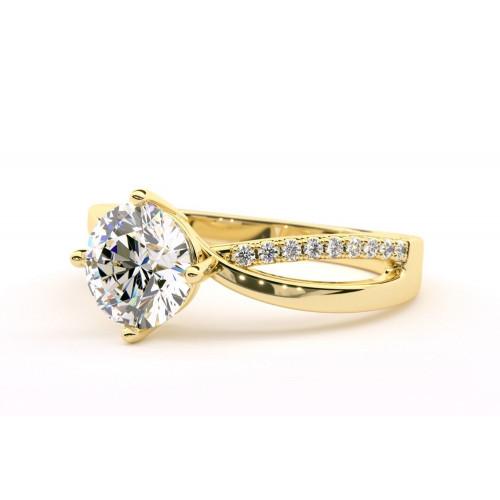 Дизайнерское золотое кольцо с бриллиантами 2269747