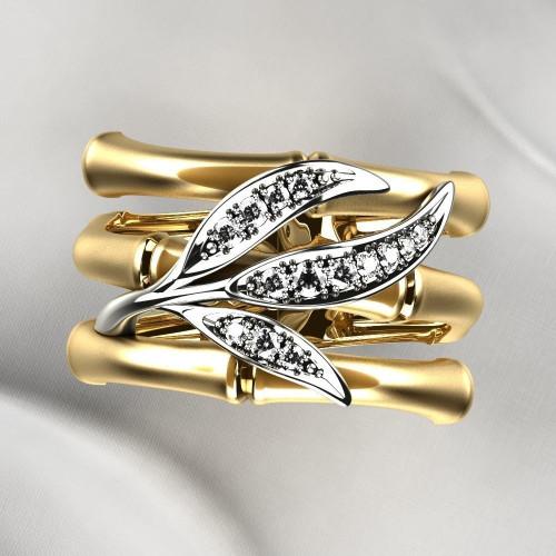 Женское кольцо в стиле Carrera y Carrera Bambu 2279941