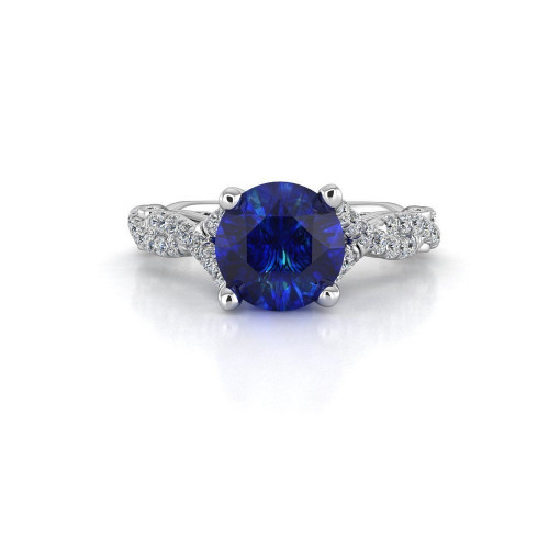 Дизайнерское золотое кольцо с бриллиантами и шпинелью 197529