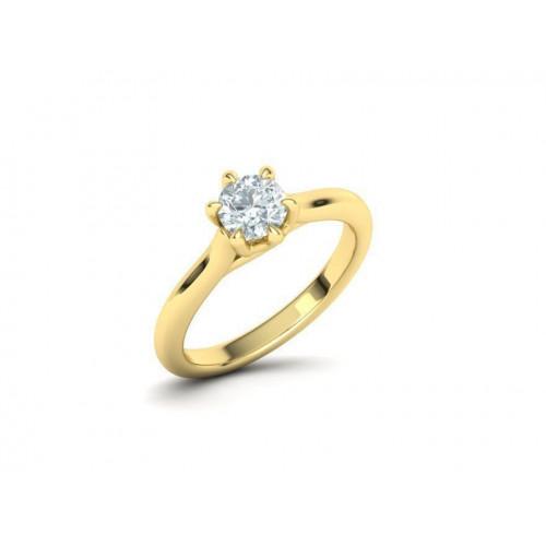 Золотое помолвочное кольцо с крупным бриллиантом 1954338