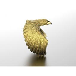 Золотое дизайнерское кольцо в форме орла 131097