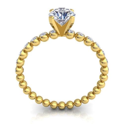 Дизайнерское классическое кольцо с бриллиантами 2256234