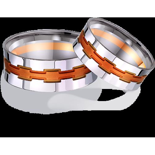 Обручальные кольца из комбинированного золота 441772
