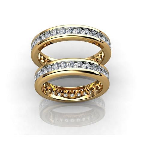 Обручальные кольца с дорожками бриллиантов 767204