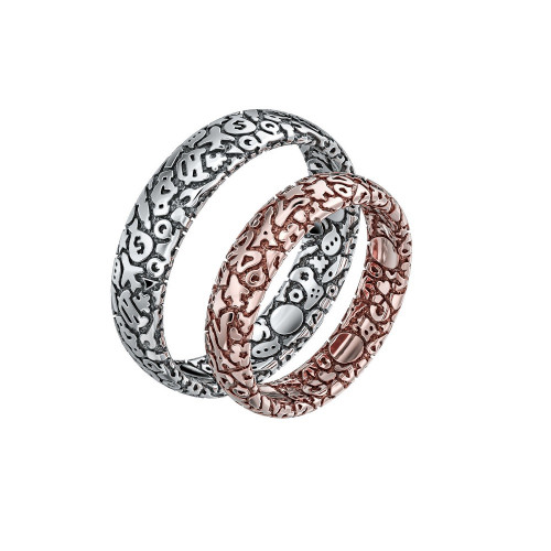 Необычные полукруглые обручальные кольца 1953477