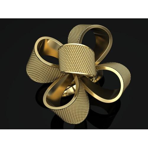 Золотое кольцо в форме банта 2291066