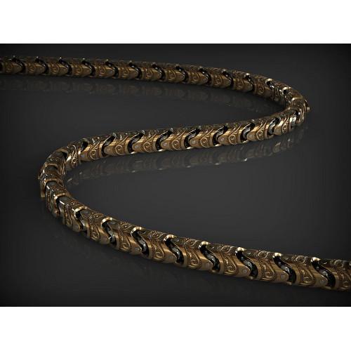 Эксклюзивная мужская золотая цепь 871242