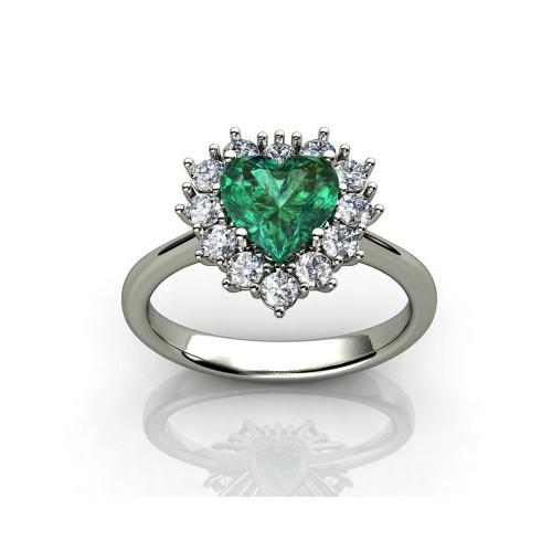 Авторское золотое кольцо в форме сердца 778252