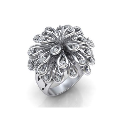 Женское эксклюзивное кольцо с бриллиантами 866788