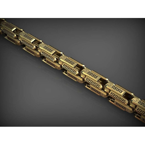 Массивная золотая цепь с греческим орнаментом 2352834