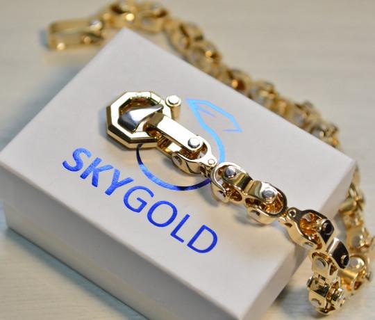 Мужской золотой браслет в стиле Baraka