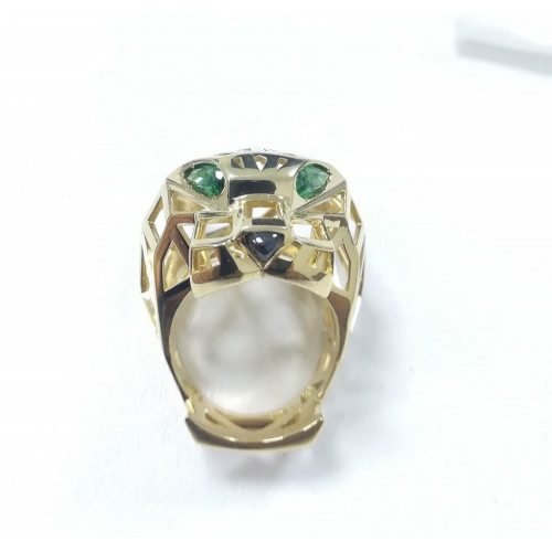 Реплика золотого кольца Cartier Panthere de Cartier 2108125