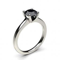 Женское помолвочное кольцо с черным бриллиантом 2204565