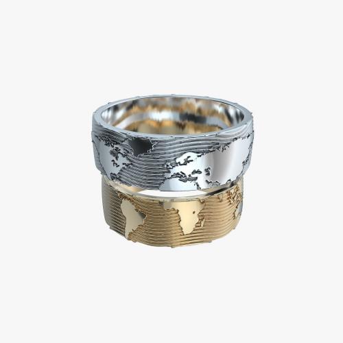 Золотые свадебные кольца Карта мира
