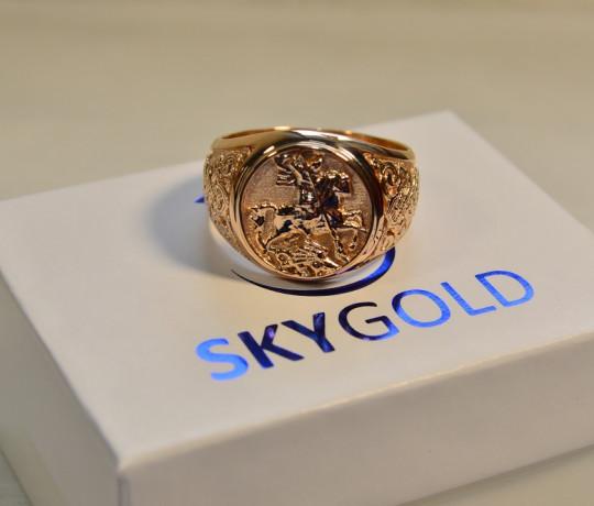 Золотой перстень с изображением Георгия Победоносца