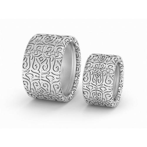 Широкие массивные свадебные кольца