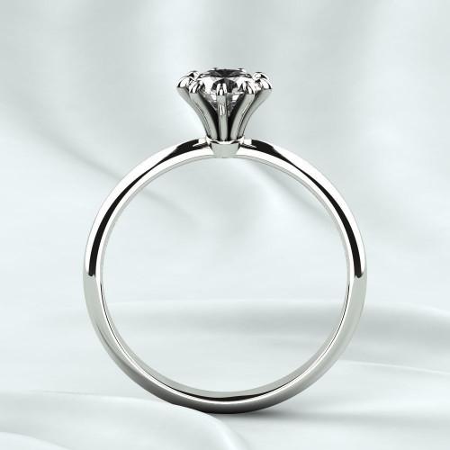 Классическое помолвочное кольцо с крупным бриллиантом 2337015