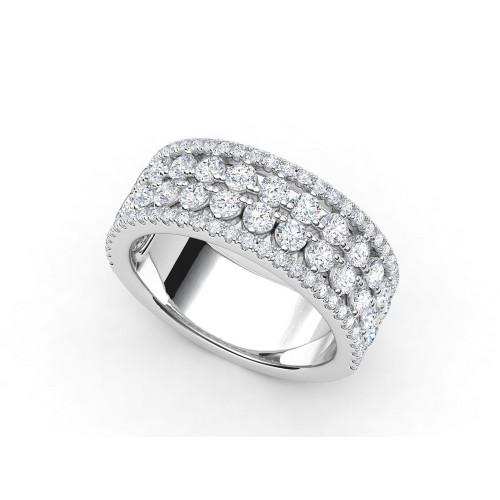 Эксклюзивное золотое кольцо с россыпью бриллиантов 764124